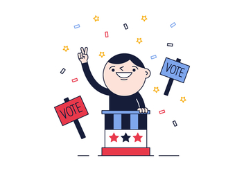 Free Political Vote Vector - Free vector #382381