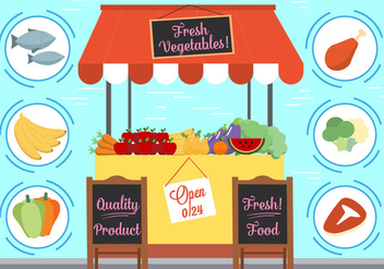 Free Vector Food And Elements - Free vector #382511