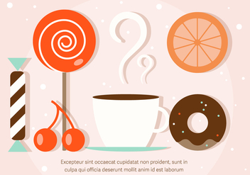 Free Sweets Vector Illustration - бесплатный vector #382571