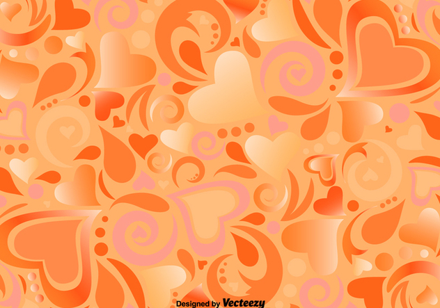 Vector Pattern With Ornamental Hearts And Shapes - Free vector #382591
