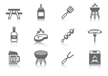 Free Barbecue Icons Vector - vector gratuit #382681