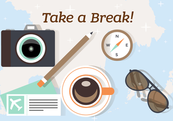 Free Take a Break and Travel Illustration - vector gratuit #382711