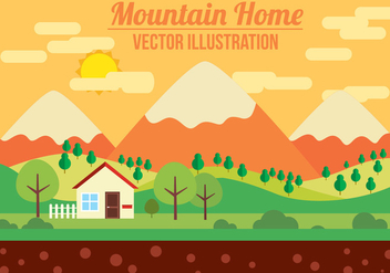 Free Mountain Vector Illustration - Free vector #382731
