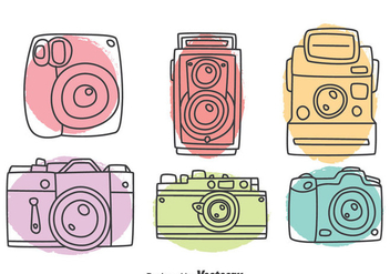Hand Drawn Camera Collection Vector - Kostenloses vector #382781