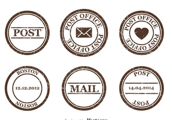 Postage Stamp Vector - бесплатный vector #382811