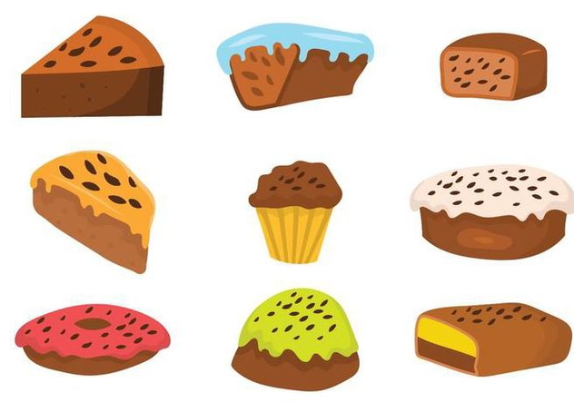 Free Raisins Cake Vector Set - бесплатный vector #382901