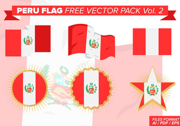 Peru Flag Free Vector Pack Vol. 2 - Kostenloses vector #382911