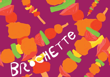 Free Colorful Brochette Food Vector - бесплатный vector #382921