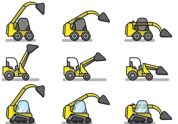 Free Flat Skid Steer Set - Free vector #383021