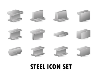 Metallurgy Products Vector Realistic Icons - Free vector #383091