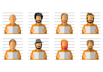 Free Mugshot Cartoon Vector - vector gratuit #383161