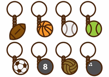 Free Sport Key Chains Vector - бесплатный vector #383211