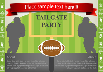 Vector Flyer Design Tailgating - Kostenloses vector #383221
