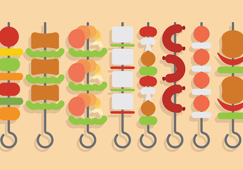 Free Brochette Icons Vector - бесплатный vector #383261