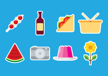 Picnic Sticker Icon - vector gratuit #383331