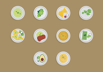 Food with Cilantro Icon Set - бесплатный vector #383471