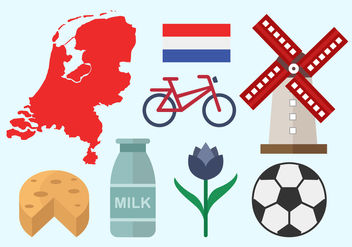 Free Netherland Flat Icon Design Vector - vector gratuit #383531