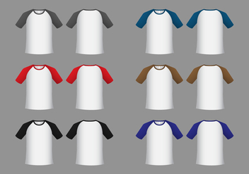 Free Raglan Short Sleeve T-shirt Template Vector - бесплатный vector #383551