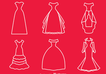 Bridesmaid Line Vector - vector #383591 gratis