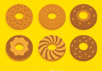 Bagel Collection Vector Set - Kostenloses vector #383651