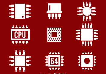 Cpu White Icons - Free vector #383671
