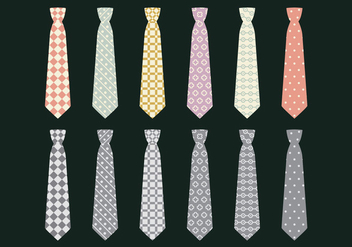 Vector Icon Set Tie - Kostenloses vector #383721
