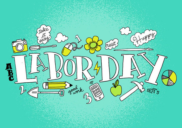 Labor Day Vector Lettering - Free vector #383731
