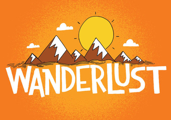 Wanderlust Mountain Design - Kostenloses vector #383741