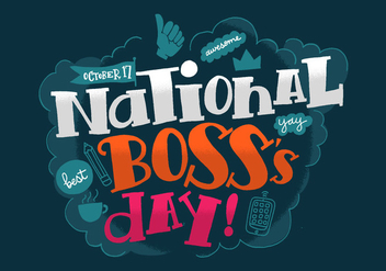 National Boss's Day - vector #383761 gratis