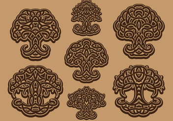 Celtic tree of life - бесплатный vector #383821