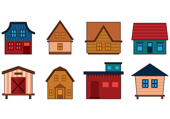 Set Of Shack Vector - vector gratuit #383851