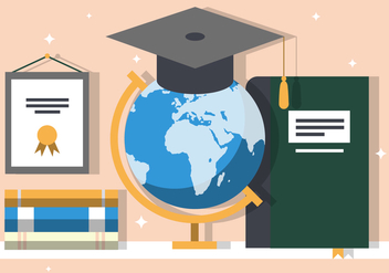 Free Graduate Education Vector Illustration - бесплатный vector #383901