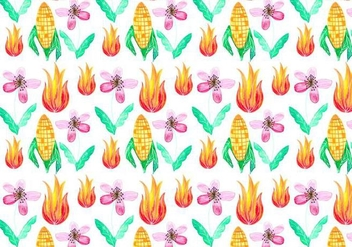 Free Vector Junina Corn Background - бесплатный vector #383931
