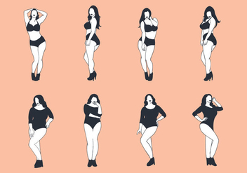 Free Plus Size Woman Vector - бесплатный vector #384071