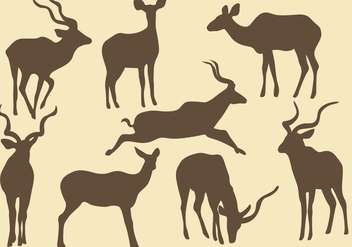 Kudu Silhouettes - Free vector #384091