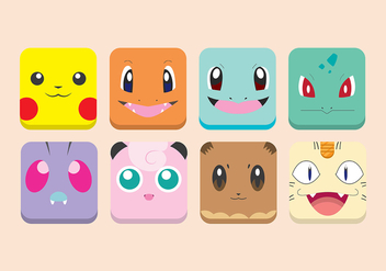 Pokemon icons - бесплатный vector #384151