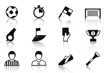 Free Soccer Icons Vector - Kostenloses vector #384241