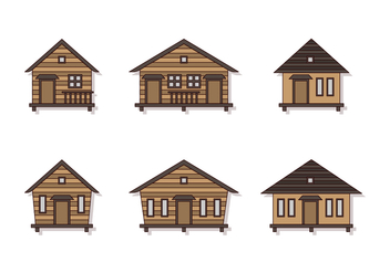 Nice Shack Vector Set - vector #384251 gratis