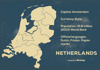 Vintage Netherland Maps - Free vector #384281