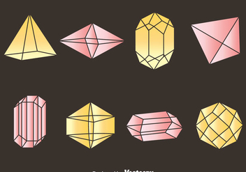 Gemstone Collection Vector - vector gratuit #384311
