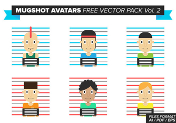 Mugshot Avatars Free Vector Pack Vol. 2 - vector #384321 gratis