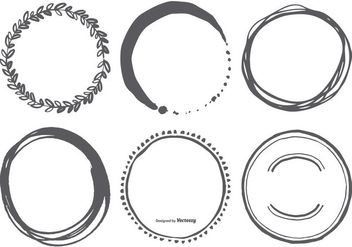 Hand Drawn Circle Vector Shapes - бесплатный vector #384371