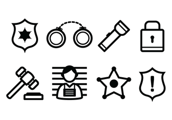 Free Police And Crime Icons - vector #384391 gratis
