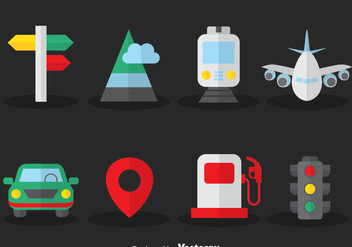 Map Legend Flat Icons Vector - vector gratuit #384401