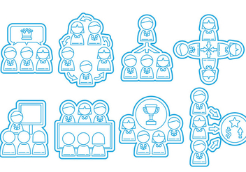Working Together Icons - vector gratuit #384431