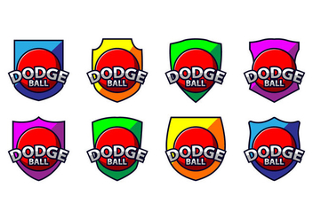 Free Dodge Ball Logo Vector - Free vector #384461