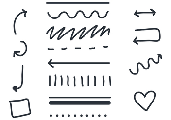 Linear Arrow and Sash Vectors - Free vector #384471