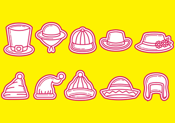 Hats and Bonnet Vector Icons - vector #384491 gratis