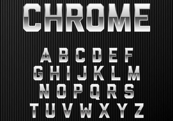 Chrome Alphabet Font - vector #384511 gratis