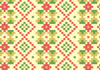 Native Blocks Pattern Background - vector gratuit #384531